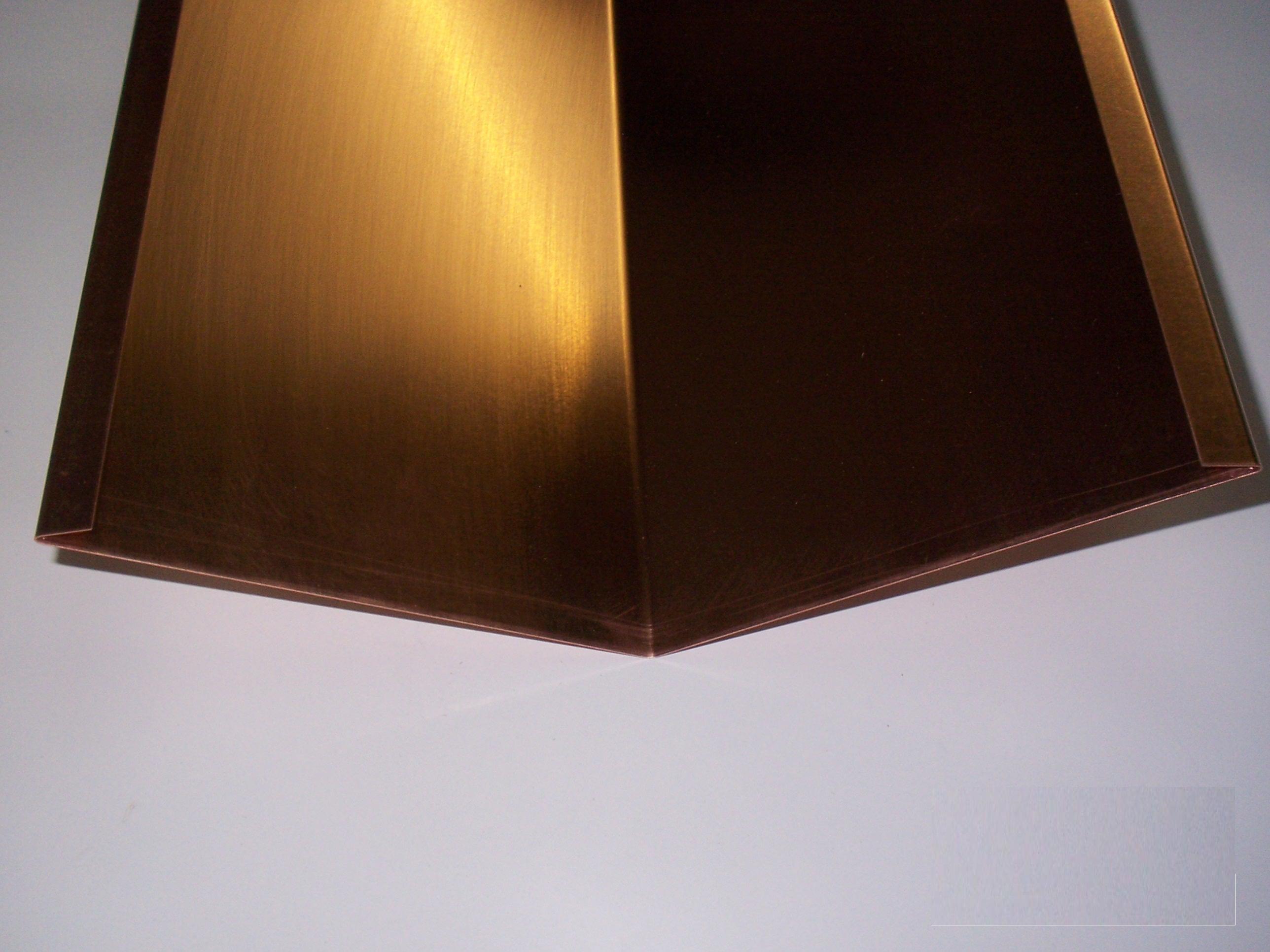 Winkelblech Dachblech Maße Kehlblech 1m lang Kupfer versch Kehle